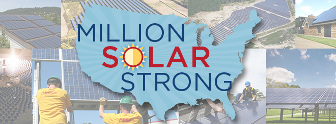 Million Solar Strong banner. Courtesy SEIA