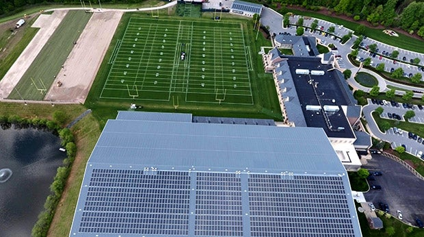 Baltimore Ravens' new solar array. Courtesy Baltimore Ravens