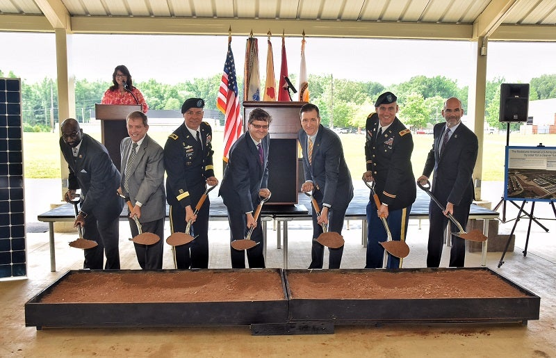 Officials break ground at Redstone solar project. Courtesy US Army Corp of Engineers