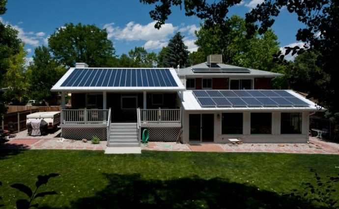 A solar-powered home in Colorado. Courtesy NREL