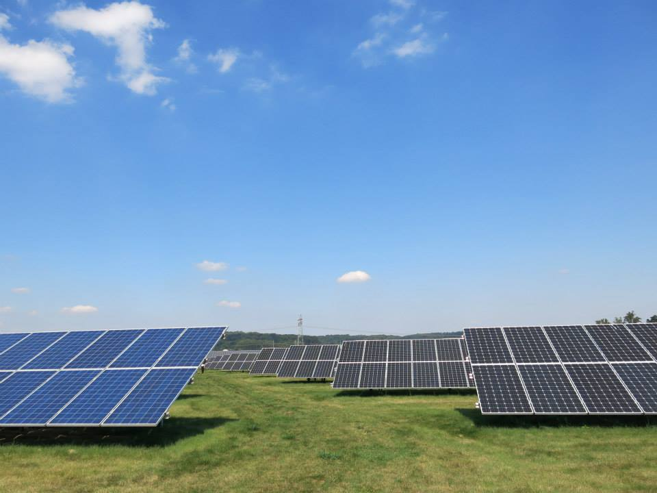 A Community Energy solar farm. Courtesy Community Energy
