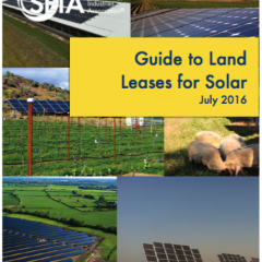 SEIA Supports Growth in Larger Solar Projects With Land Lease Guide