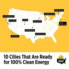 New Report Showcases 10 US Cities Committed to 100% Renewable Energy