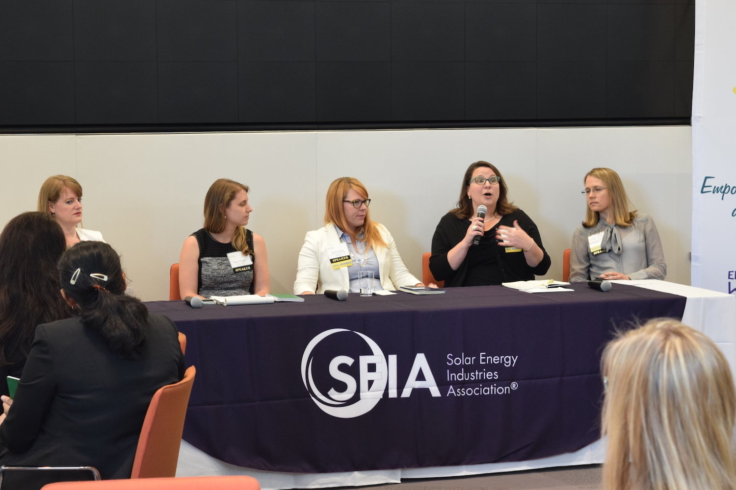 Speakers during a session at the first SIEA Women's Empowerment Initiative event. Courtesy SEIA