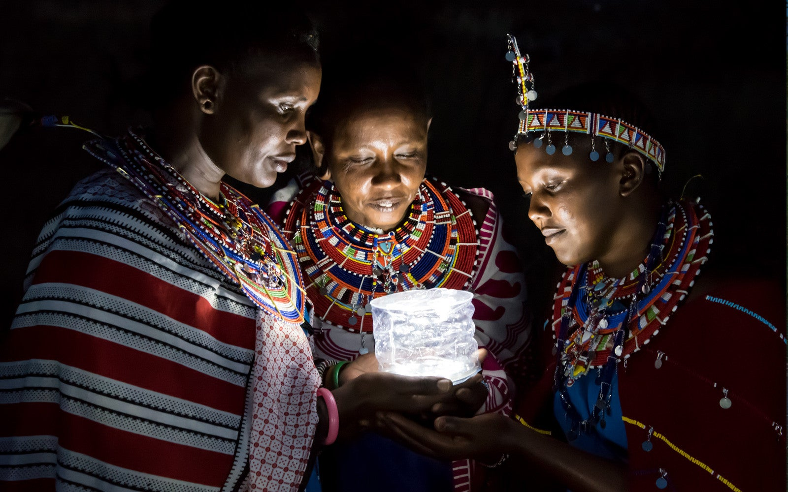 An MPOWERED light in use in Africa. Courtesy MPOWERED