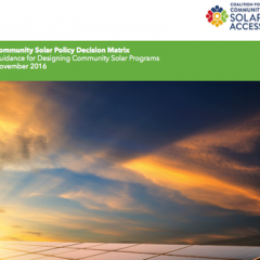 CCSA Introduces Guide to Help Policymakers Grow Community Solar