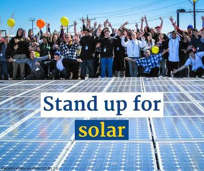 The Stand up for Solar campaign. Courtesy Environment America