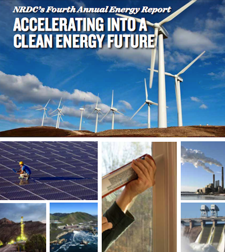 NRDC Annual Energy Report cover. Courtesy NRDC