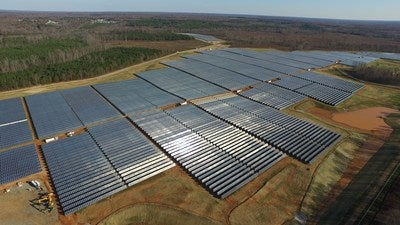 A Dominion Energy solar farm. Courtesy Dominion Energy.