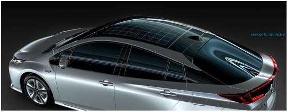 Panasonic Introduces Solar Roof Module Designed For Cars Starting With Prius