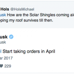 Musk Teases Tesla to Take Solar Roof Orders Starting in April