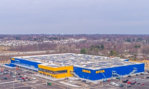 Solar at the new Ikea in Columbus. Courtesy Ikea