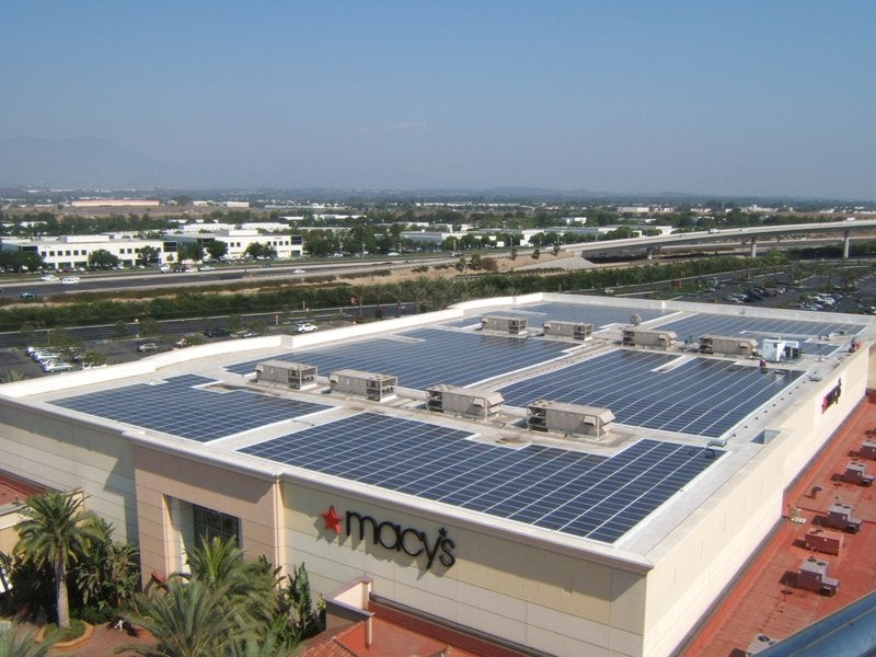 Solar installation at a Macy's owned by 8point3. Courtesy 8point3