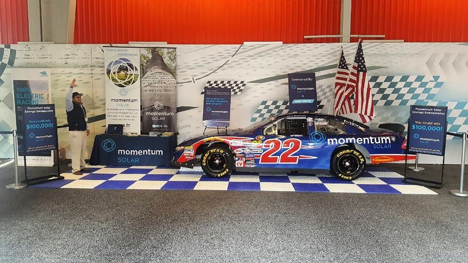 RTR car 22. Courtesy Momentum Solar's Facebook page