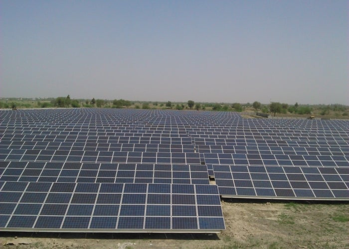 A solar array in India. Courtesy India's government