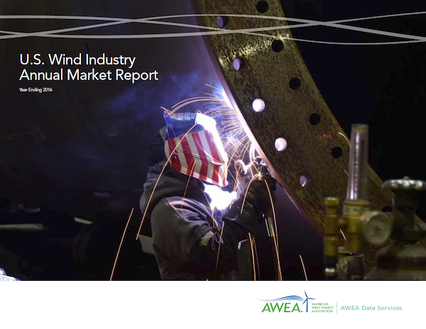 US Wind Industry Annual Market Report. Courtesy AWEA
