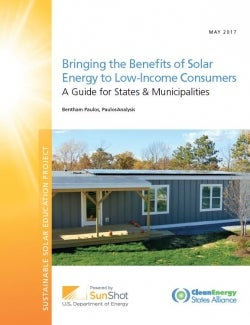 Bringing solar benefits to low-income homes. Courtesy CESA