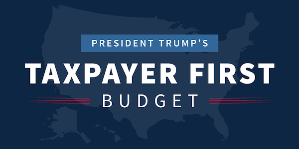 Trump's budget proposal. Courtesy White House