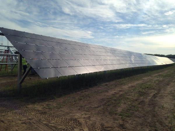 Minnesota Power's solar farm on Camp Riley. Courtesy Minnesota Power