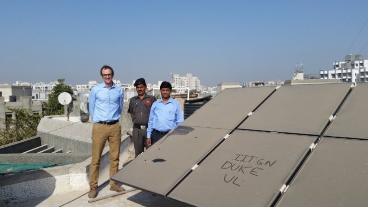 Duke's Micheal Bergin with Indian Institute of Technology-Gandhinagar colleague Chinmay Ghoroi. Courtesy Duke