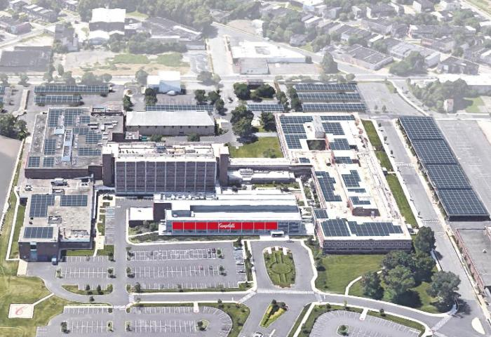 SunPower's installation at Campbell Soup. Courtesy SunPower