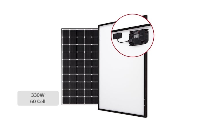 lg enphase introduce ac solar panel for rooftops. Black Bedroom Furniture Sets. Home Design Ideas