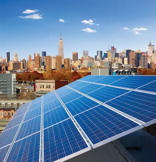 NYC Rooftop Solar Installation. Courtesy of Con Edison.