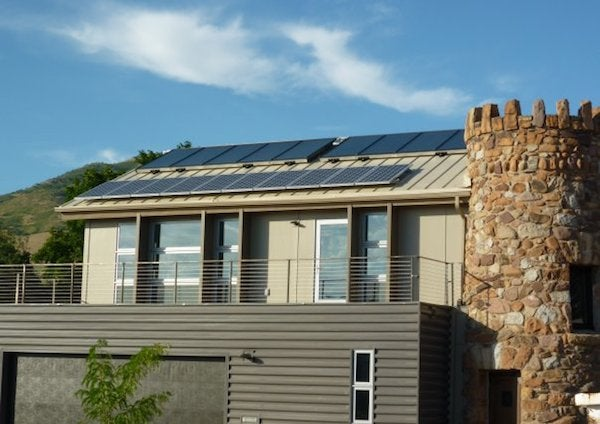A solar roof in Utah. Courtesy Utah Solar Energy Assn.
