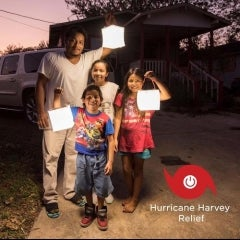 LuminAID Lives up to Name, Donates 1K Solar Lanterns to aid Hurricane Harvey Recovery