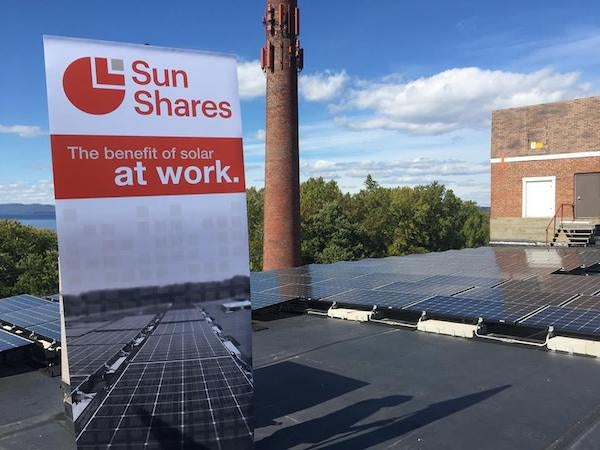 Sun Shares first rooftop project. Courtesy VEIC
