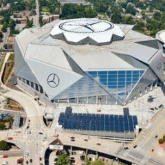 Atlanta Falcon's Touchdown With Solar at new Mercedes-Benz Stadium