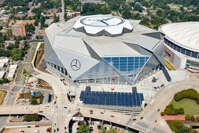 Mercedes Benz Stadium. Courtesy Mercedes Benz Stadium