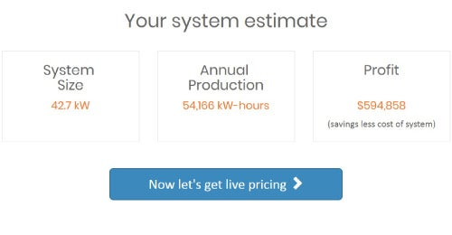 your system estimate