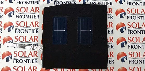 Solar Frontier's new test PV cell. Courtesy Solar Frontier