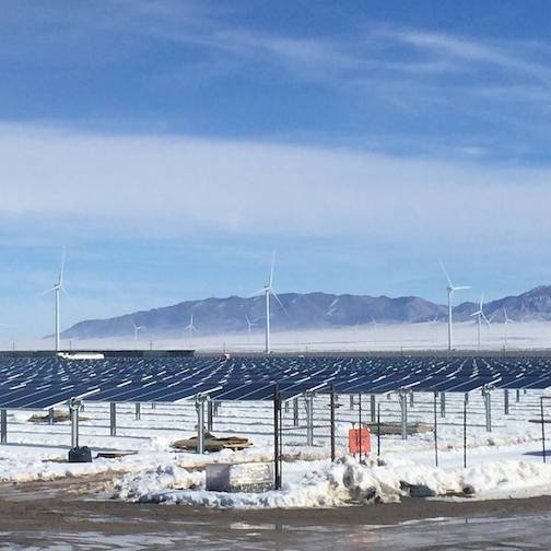 A Millford, UT, solar project once owned by SunEdison. Courtesy SunEdison's Facebook page