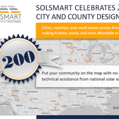 200 Communities Across US Made it Easier to go Solar With SolSmart