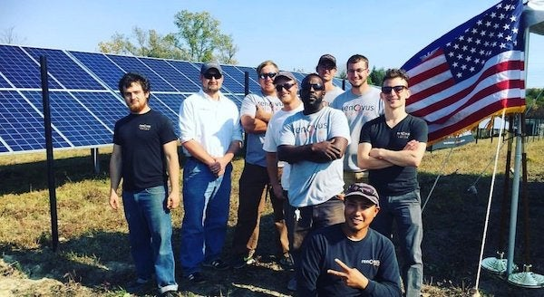 Community solar workers. Courtesy Vote Solar