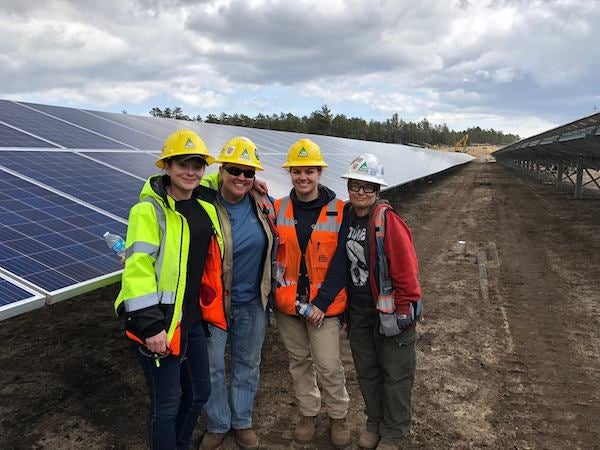 A BlueWave Solar project. Courtesy BlueWave's Facebook page.