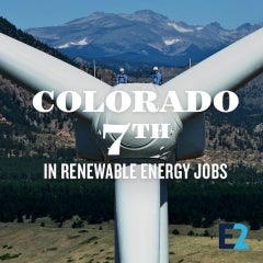 Colorado is 7th in US for Renewable Energy Jobs, With 17,000 Employed E2 Finds