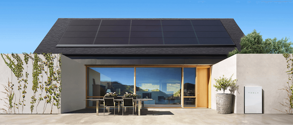 A home with Tesla Solar Panels. Courtesy Tesla