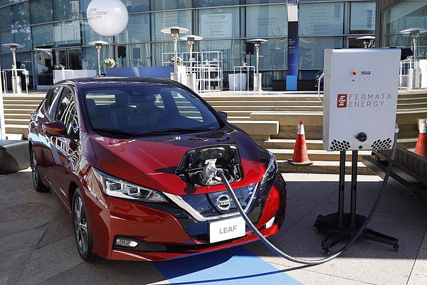 Nissan LEAF. Courtesy Fermata
