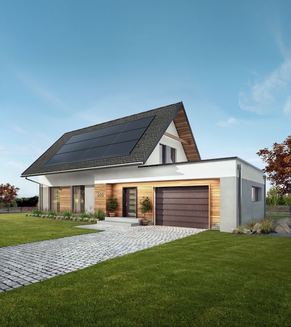 A GAF Energy Solar mockup. Courtesy GAF Energy