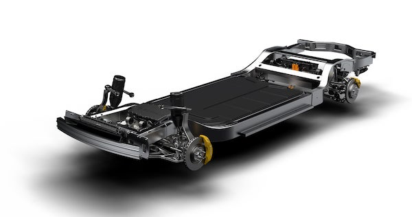 The Rivian Chassis. Couresty Rivian