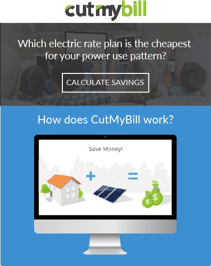 Cut my bill website tablet view