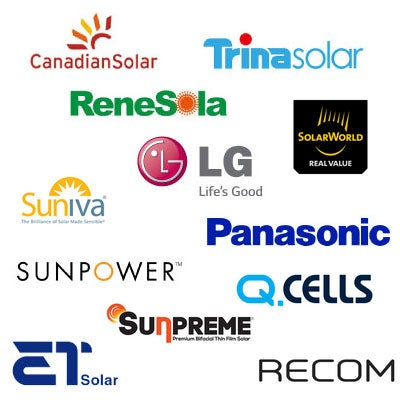 different brands of solar panels cost