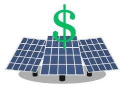 Average Cost of Solar Panels Icon